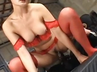 Asian In Red Sucks And Fucks Dog