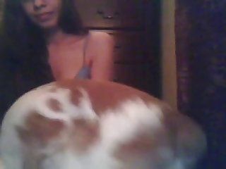 Webcam Lick Mount Young Brunette Spaniel